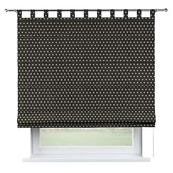 Raffrollo Verona, schwarz-beige, 160 × 170 cm, Black & White, 142-56