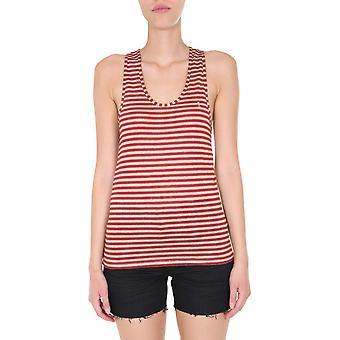 Saint Laurent 614263ybrl29774 Women's Red Linen Top