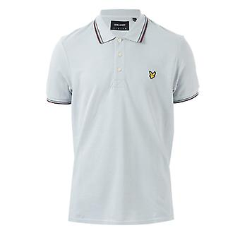 Men's Lyle And Scott Tipped Polo Shirt in Silver