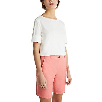 Esprit Women's Chambray Cotton Shorts Normal Fit Γυναικειο Κοραλλι