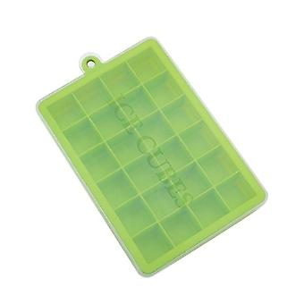 With Lid Ice Tray 24 Grids Eco Friendly Ice Cube Tray Made Up Of Silicone -