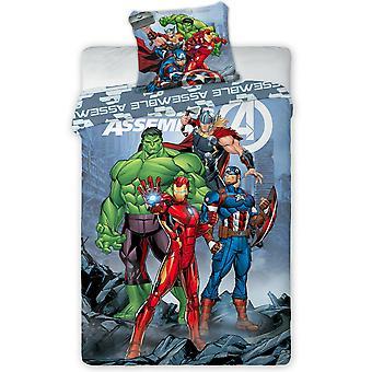 Marvel Avengers Assembleren Single Dekbed Cover Set - Europese grootte