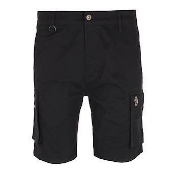 Luke 1977 Club Future Black Cargo Shorts