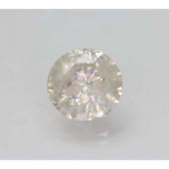 Certified 2.58 Carat H SI3 Round Brilliant Enhanced Natural Loose Diamond 8.76mm