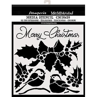 Stamperia Thick Stencil 18x18cm Merry Christmas