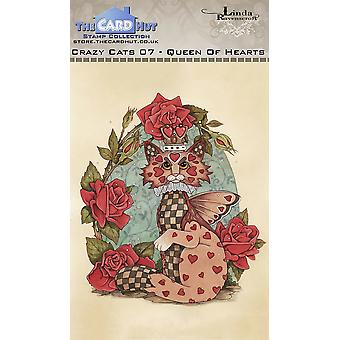 The Card Hut Crazy Cats Queen of Hearts Clear Stamps