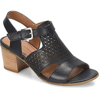 Comfortiva Womens Amber Leather Open Toe Casual Slingback Sandals
