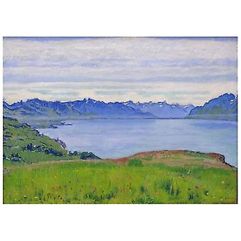 Print on canvas - Landscape at Lake Geneva - Ferdinand Hodler - Painting on Canvas, Wall Decoration