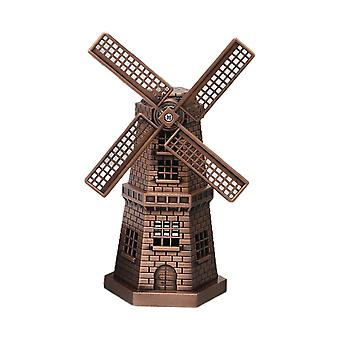 Vintage Metal Windmill Model Ornaments Red