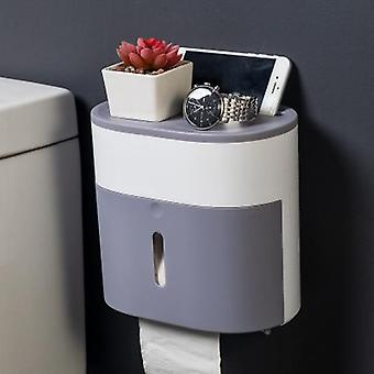 Plastic Toilet Paper Holder Bathroom Double Paper Tissue Box Wall Mounted Paper