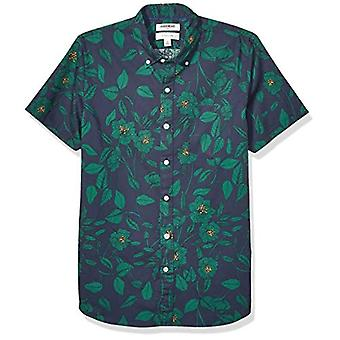 Marke - Goodthreads Men's Slim-Fit Kurzarm gedruckt Poplin Shirt, ...