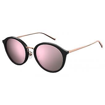 Sunglasses women round pink gold / black
