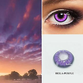 Cosplay Colored Contact Lens Cosmetic Contacts Lenses - Eye Color Beautiful Pupil for Halloween