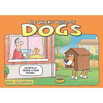 Wacky World of Dogs A4 Calendar 2021