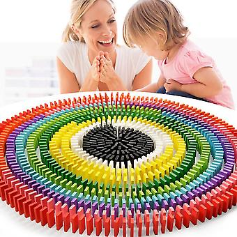 Colorful Wooden Kids Domino Blocks Kits - Early Learning Educational