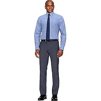 BUTTONED DOWN Men's Classic Fit Button Collar Pattern Non-Iron Dress Shirt, N...