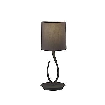 Table Lamp 1 Light E27, Small Ash Grey with Ash Grey Shade