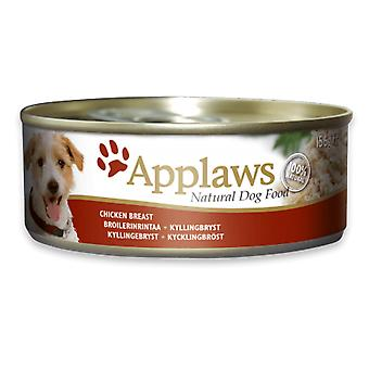 12 x 156g Applaws Natural Dog Pet Wet Food Chicken Breast Rice Natuurlijk Vlees