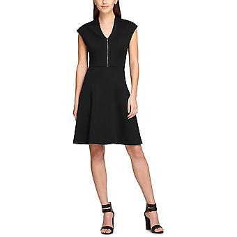 DKNY | Cap-Sleeve V-Neck Fit & Flare Dress