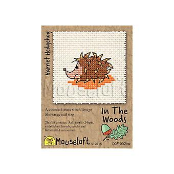 Harriet Hedgehog In the Woods Mini Counted Cross Stitch Kit