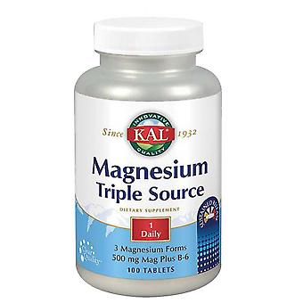 Kal Magnesium Triple Source, 100 Tabs
