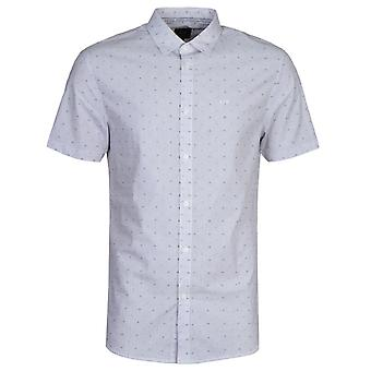 Armani Exchange Patterned Pin Striped Short Sleeve Shirt