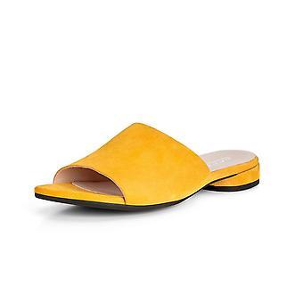 ECCO 208403 W Flat Sandal Ii Comfortable Ladies Mules In Marigold