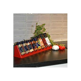 Red Spice Organizer, Overview In Drawers & Kitchen Counter