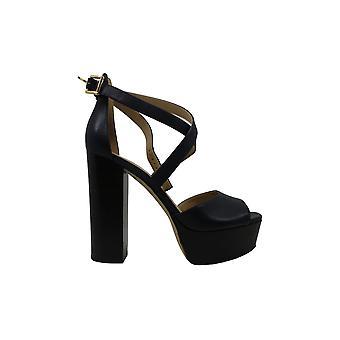 Michael Michael Kors Womens Burke Platform Leather Open Toe Casual Platform Sandals