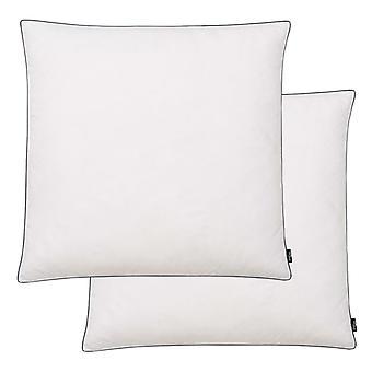 vidaXL Cushion 2 pcs. Down / Fed Filling Light 80 x 80 cm White