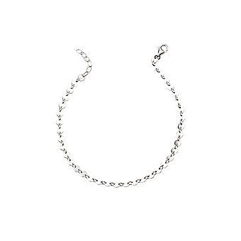 Elementer Silver Ladies 925 Sterling Silver Multi Disc Link og kæde armbånd af længde 17cm-21cm