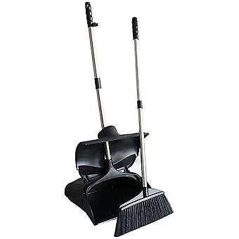 Handled Dustpan Lobby Broom Commercial Sweep Combo Set Upright Grips