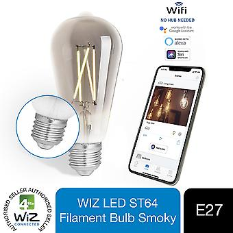 WiZ LED ST64 Smart Filament Bulb Smoky ES(E27) Tuneable White & Dimmable, 1 Pack