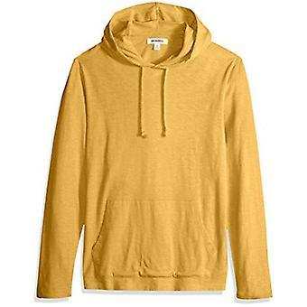 Goodthreads Men's Lightweight Slub T-Shirt Hoodie, Navy, Medium Tall