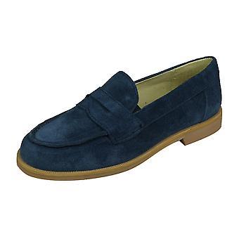 Cool Boys Hugo Suede Loafer / Slip on Shoes - Blu