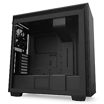 Nzxt h710 - atx mid tower pc gaming case - front i/o usb type-c poort - quick-release gehard glas