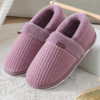 Domov Papuče Zimné Krátke Plyšové papuče topánky