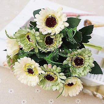 Heads Mini Silk Artificial Flowers, Daisy For Wedding Table, Home Vase Decor,