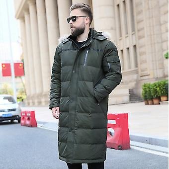 Fashionable New Product, Plus Size, Plus Extra Fat, Plus Extra Size, Plus Men's Lengthening Over The Knee, Plus Oversized Stand-up Collar Fur Collar