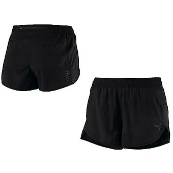 Puma NightCat Reflective Womens Gym Fitness Sports Shorts Black 515802 01 RW63