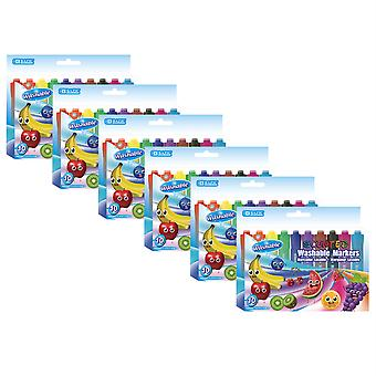 Washable Markers, Scented, 10 Colors Per Pack, 6 Packs