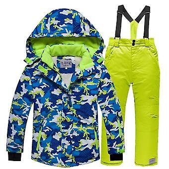 Gyerekek meleg gyapjú hó suit-kabát-nadrág szett