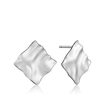 أنيا هاي سيلفر روديوم مطلية سحق مربع مسمار الأقراط E017-03H