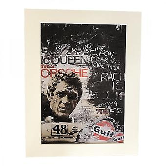 Larrini Mcqueen Gulf Grafitti A4 Mounted Photo