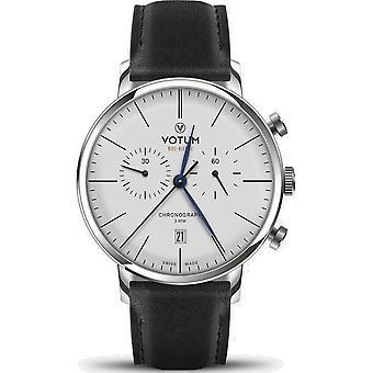VOTUM - Reloj Unisex - VINTAGE CHRONOGRAPH - VINTAGE - V10.10.20.01 - correa de cuero - negro