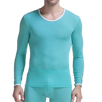 Men's Undershirt Thermal Super Thin Ice Silk Underwear