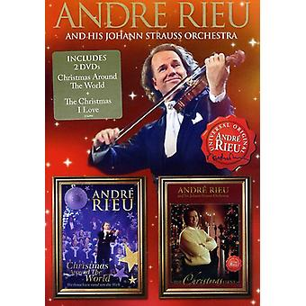 Andre Rieu - Andre Rieu Christmas Around the World & Christmas [DVD] USA:n tuonti