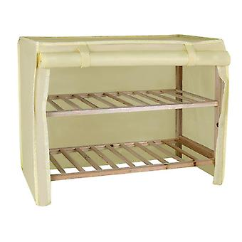 Wooden shoe rack with Two Shelves and Covers