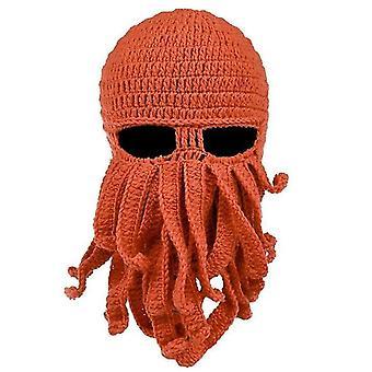 Beard Hat Beanie Hat Knit Hat Winter Warm Octopus Hat Windproof Funny Men Women