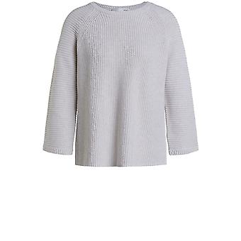Oui Off White Ribbed Knit Jumper